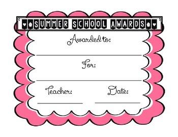 Summer School Awards