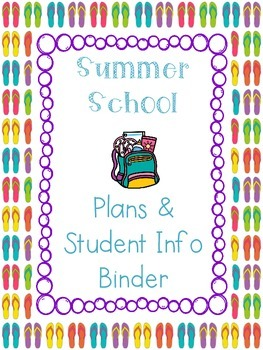 Summer School Binder Covers & Pages