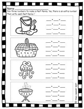 Summer School Centers and Homework for 1st Grade