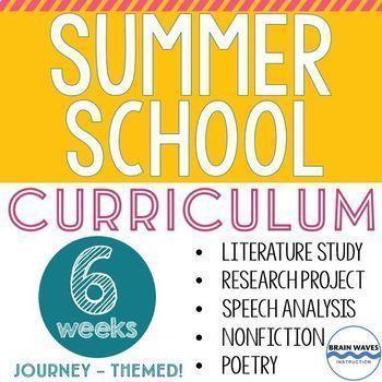 Summer School Curriculum - 6 Weeks - Journey-Themed - Multi-Unit