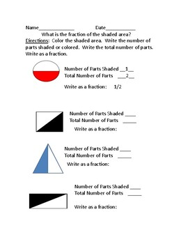 Summer School Curriculum:  Packet 10 Fractions Using Shaded Shapes