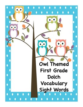 First Grade Sight words with Pre and Post Assessment