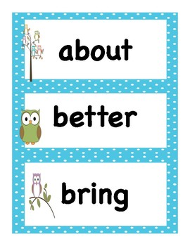 Back to School Curriculum:  Packet 6 Third Grade Sight Words with Pre and Post