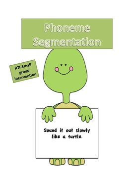 Back to School Curriculum:  Packet 7 Phoneme Segmentation with Pre and Post