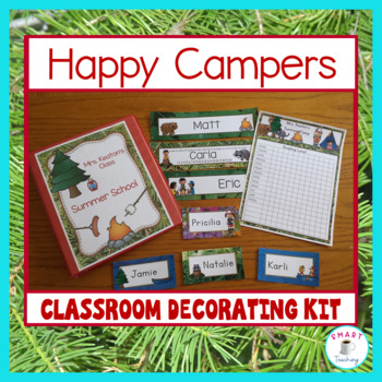 Camping Theme - Decorate Your Classroom Kit - Name and Desk Plates