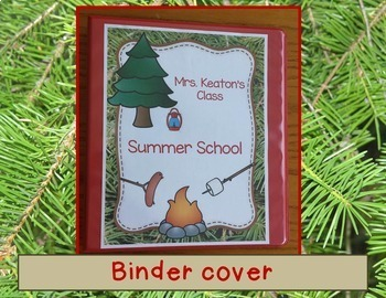 Editable Camping Theme Decorate Your Classroom Kit Name Cards Binder Roster