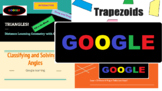 Digital Distance Learning Geometry Google Lesson Bundle