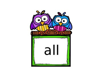 Dolch Primer (Beginning First)  Sight Words Timed Assessment