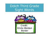 Dolch Third Grade Sight Words Timed Assessment
