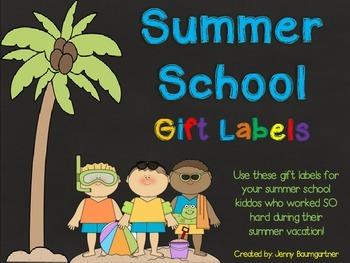 Summer School Gift Labels
