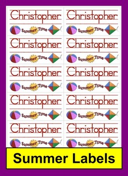 "Summer School Labels ""Print Clearly"" Font Set 3- Room for"
