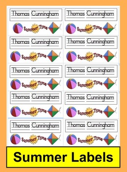 Cubby Tags Summer Worksheets & Teaching Resources | TpT