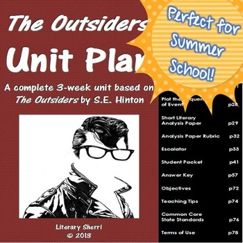Summer School Curriculum: The Outsiders Unit (Grades 6, 7, 8)