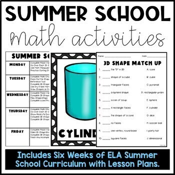 Summer School Math Bundle