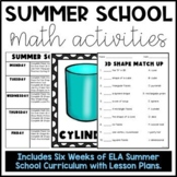 Summer School Math Materials