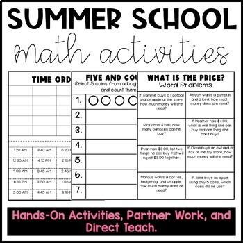 Summer School Math Materials