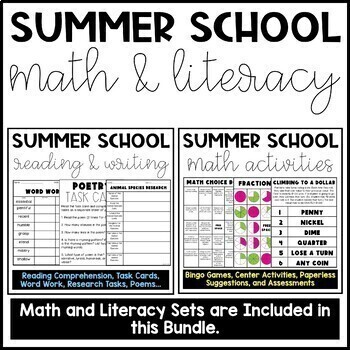Summer School Reading and Math Bundle