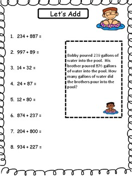 Summer School Math for Third Grade
