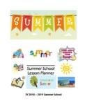 Summer School Planner for Summer 2019
