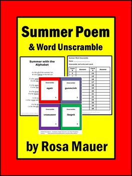 Summer Poetry Printables