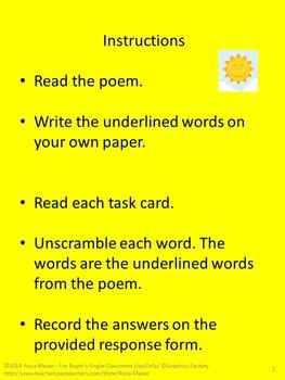 Summer Poetry Printables