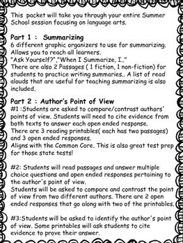 Summer School: Reading