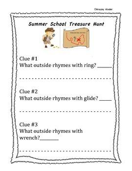 Summer School Scavenger Hunt