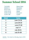 Summer School Schedule (EDITABLE)