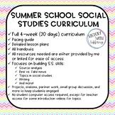 Summer School Social Studies Curriculum (4 weeks)