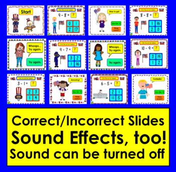 Summer School Subtraction:  Video Preview: 66 Facts to 10 PowerPoint Game!