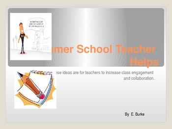Summer School Teacher Helps