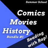 Movie and Superhero, Summer School Theme for Reading Activities Using Rap Songs