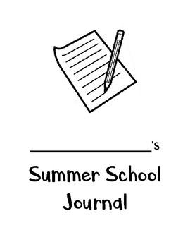 Summer School Writing Journal