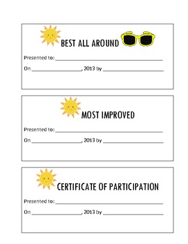 Summer School/Camp Rules, Icebreakers, Puzzles, Certificates, and Fun Activities