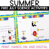 Summer Science Activities for July FREE