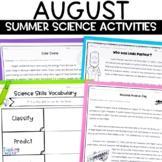 Summer Science August Activities