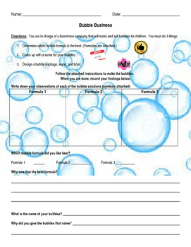 Summer Science:  Bubble Business!