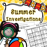 Summer Science - End of the Year Science - STEM
