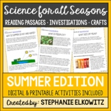 Summer Science Reading Passages and Activities | Printable & Digital