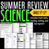 Summer Science Skills REVIEW