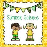 Summer Science for Preschool and Kindergarten