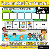 Summer Scrambled Sentences - Boom Cards - Digital Distance