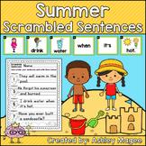 Summer Scrambled Sentences Center