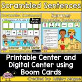 Summer Scrambled Sentences Center - Printable and Digital