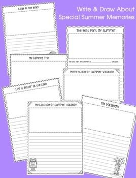 Summer Scrapbook: Fun and Interactive Writing Activities