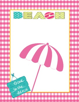 Summer Scrapbook Template