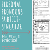 Summer Sea Animals - Personal Pronouns - HE, SHE, IT Practice