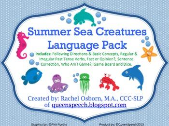 Summer Sea Creatures {Language Pack}