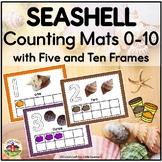 Summer Seashell Counting Mats and Frames