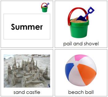 Summer Season Cards  - Toddler